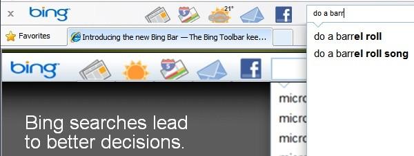 Bing Bar é atualizada e trásnovidades