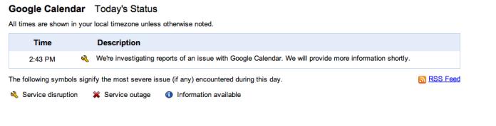 Google Calendar está offline