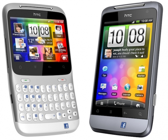HTC ChaCha e HTC Salsa são os novos FacebookPhones