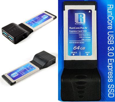 Runcore PRO IV USB 3.0 ExpressCard