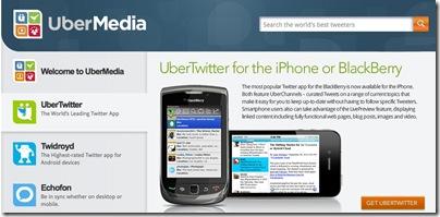 UberMedia possui 20% dos tweets noTwitter