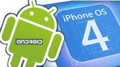 Android e iPhone 4