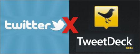 Twitter versus TweetDeck