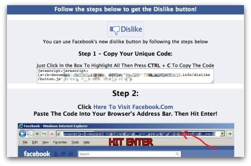 Ativar botão de 'descurtir' está sendo usada para espalhar vírus peloFacebook