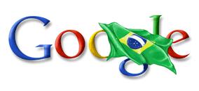 Google com a bandeira do Brasil