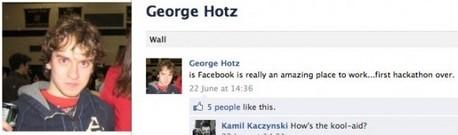 Geohot está trabalhando como hacker para oFacebook