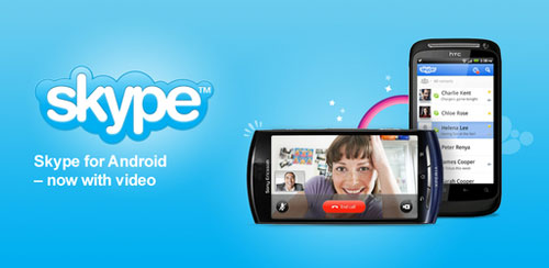 Skype com vídeo chamada Android