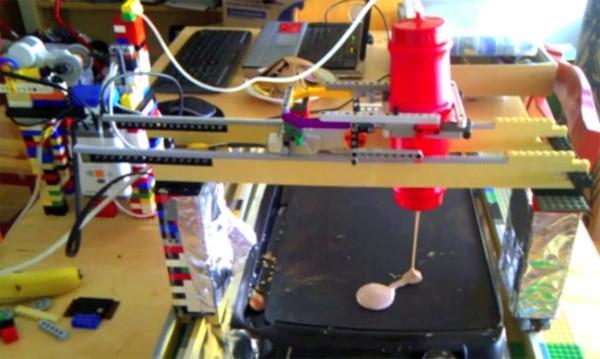 Robô de Lego pode fazer panquecas no formato que vocêquiser