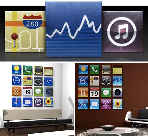 Ícones do iPhone para você decorar a suaparede
