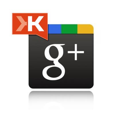 Google+ no Klout
