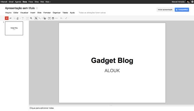Novo Google Docs Powerpoint