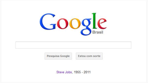 Google homenageia Steve Jobs na suahome