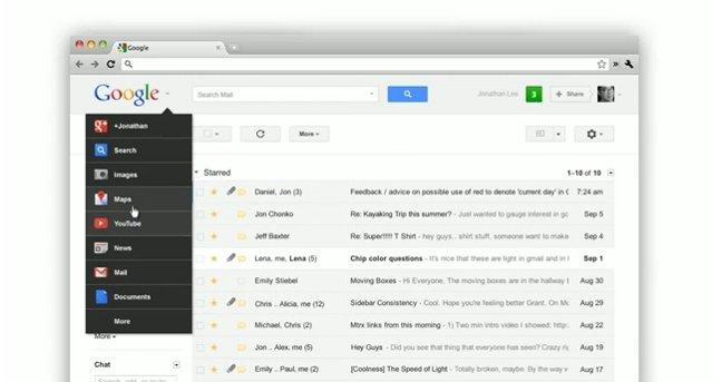 Nova barra de navegação do Google