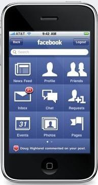 Crescimento de usuários do Facebook usando iPhone pode indicar quão bem está indo o iPhone4S