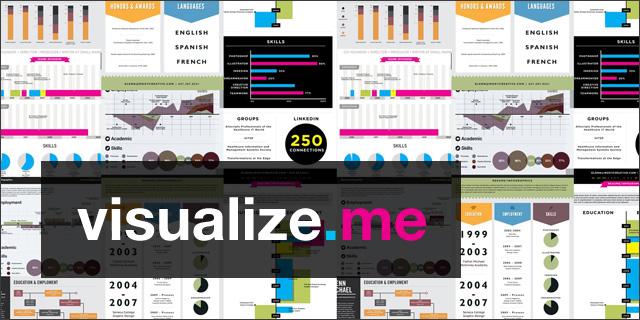 Visualize.me transforma seu currículo em um lindoinfográfico