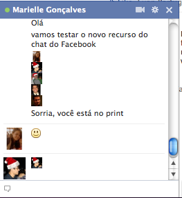 Chat do Facebook emoticon com perfil