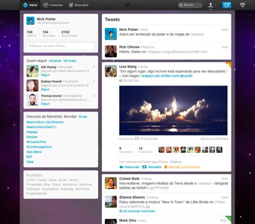 Novo design Twitter