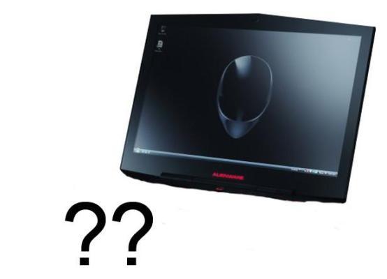 Apenas um conceito de como seria o tablet da Alienware