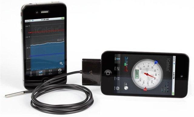iCelsius Pro transforma o seu iPhone ou iPad em umtermômetro