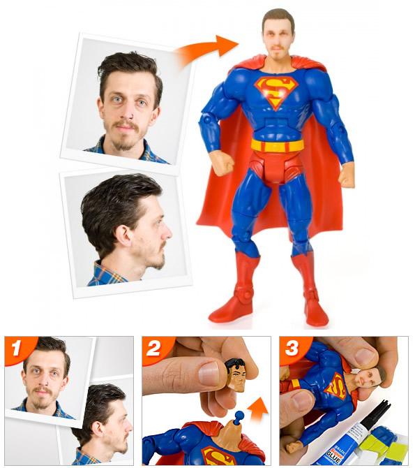 Super Héroi personalizada com sua cabeça